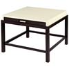 Spats Square End Table - White on Ash Top, Espresso Base