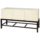 Spats 3-Door Buffet Table - White on Ash Top, Espresso Base