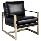 Christopher Lounge Chair - Bonded Leather, Sleigh Legs