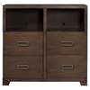 Savannah 4-Drawer TV Media Chest - Pecan