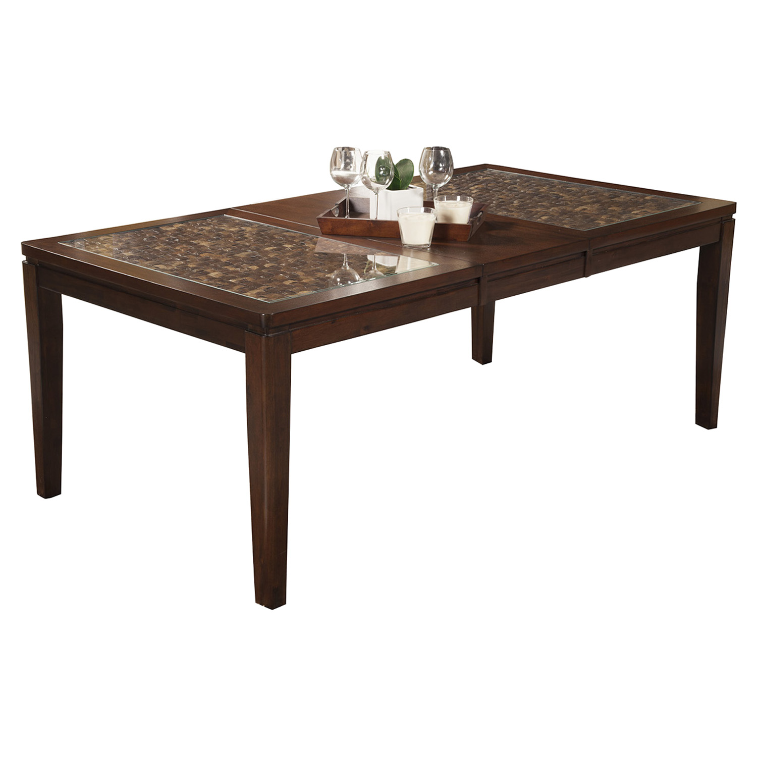 Granada Extension Dining Table - Brown Merlot, Butterfly Leaf
