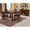 Granada 5-Piece Pub Set - Brown Merlot