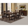 Granada 7-Piece Dining Set - Brown Merlot
