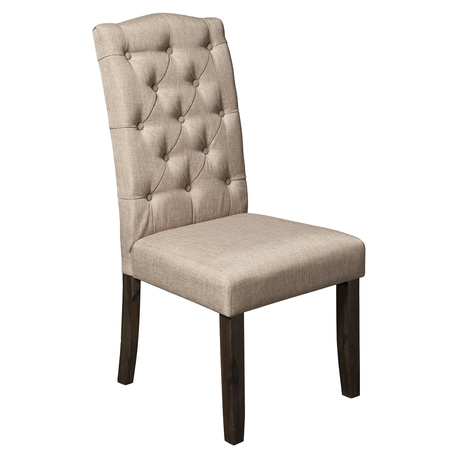 Newberry Parson Chair - Salvaged Gray, Button Tufted (Set of 2)