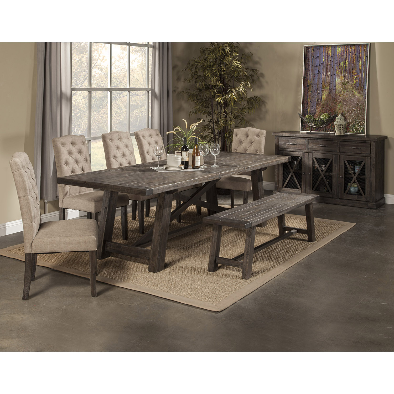 Newberry 5-Piece Dining Set - Salvaged Gray - ALP-1468-SET