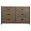 Camilla 6 Drawers Dresser - Antique Gray