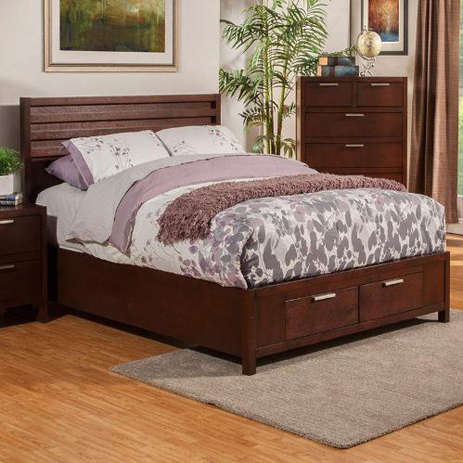 Urban Storage Bed - Merlot