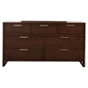 Urban 7-Drawer Dresser - Merlot