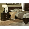 Chesapeake Sleigh Bed with Nightstands in Cappuccino