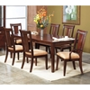 Saratoga Dark Walnut 7 Piece Extension Dining Set