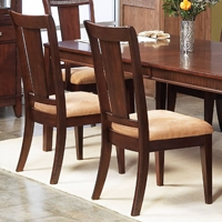Saratoga Dark Walnut Side Chair (Set of 2)