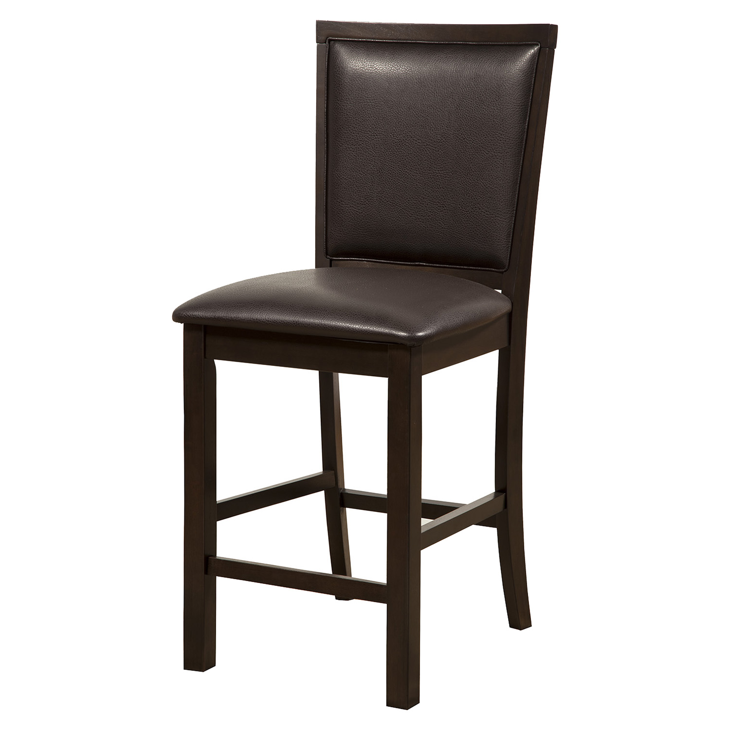 Davenport Pub Chair - Faux Leather, Espresso