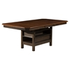 Davenport Extension Dining Table - Espresso Finish, Walnut Top