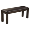 Davenport Bench - Faux Leather Cushion, Espresso