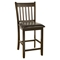 Capitola Pub Chair - Faux Leather Cushion, Espresso - ALP-554-C