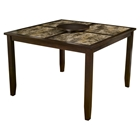 "Capitola Faux Marble Pub Table - Espresso, 18"" Lazy Susan"