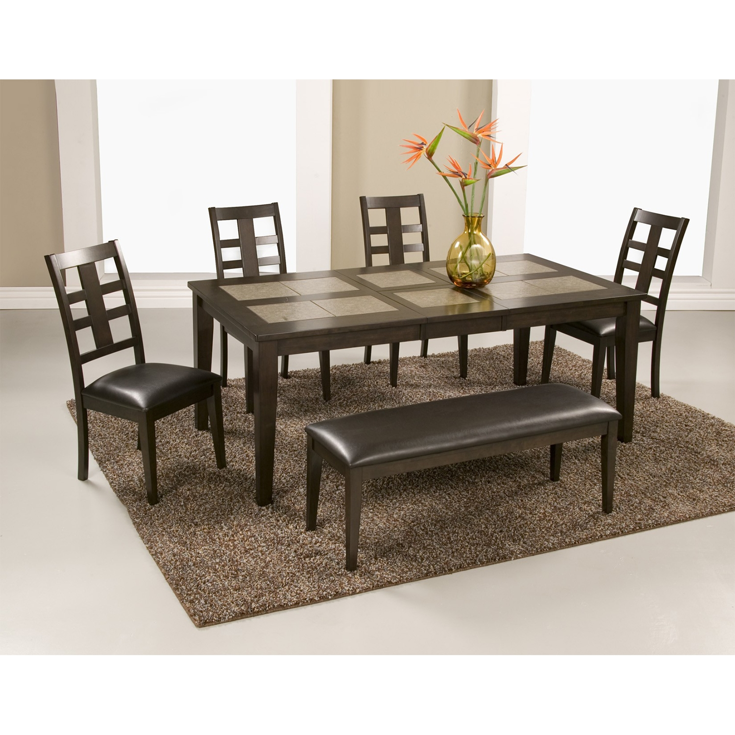 Piedmont 6-Piece Dining Set - Dark Walnut