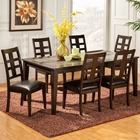 Piedmont 7-Piece Dining Set - Dark Walnut