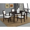 Midtown 5-Piece Dining Set with White Upholstered Chairs