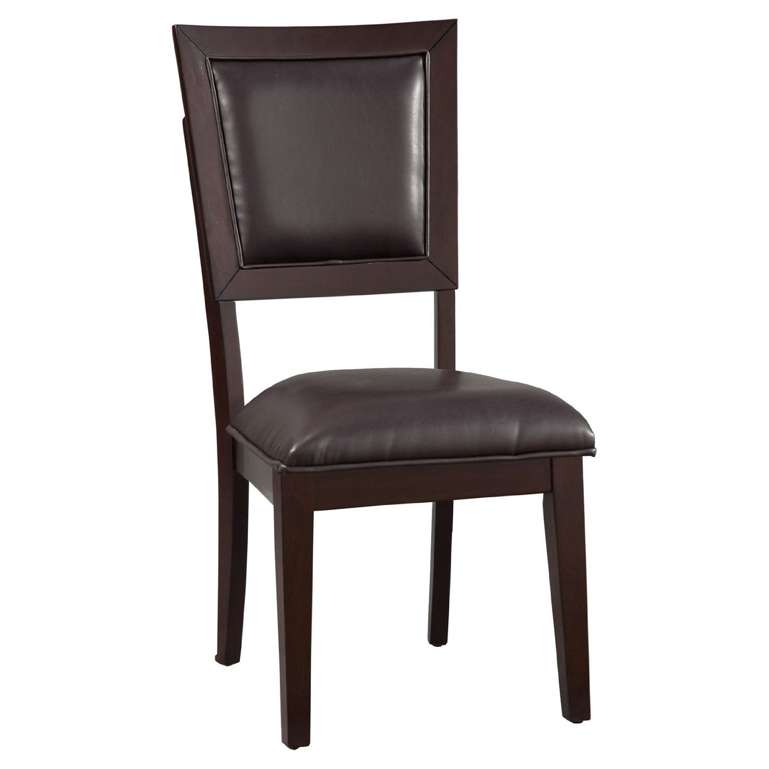 Midtown Side Chair - Espresso Frame, Black Upholstery
