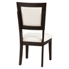 Midtown Side Chair - Espresso Finish, White Upholstery