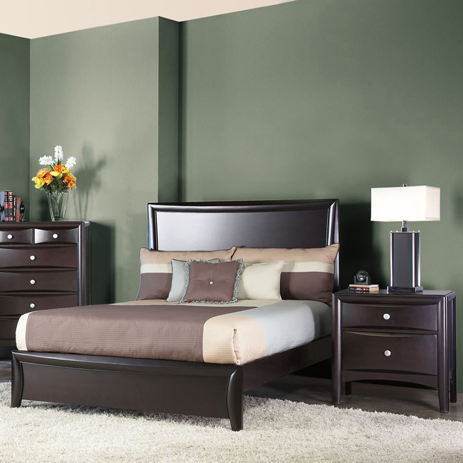 Laguna Full Panel Bedroom Set - Dark Espresso - ALP-618-BED-SET