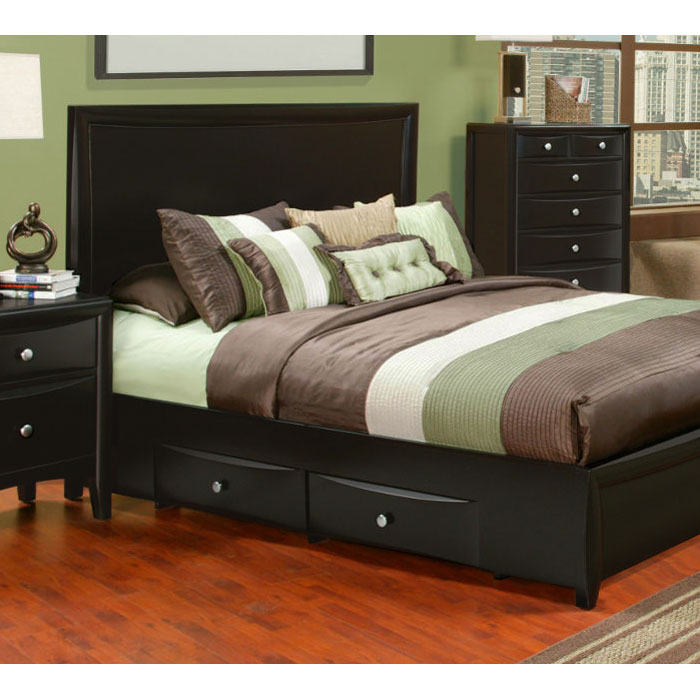 Laguna Wood Storage Bed