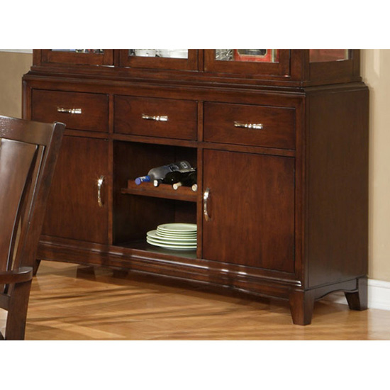 Bradbury Wood Buffet Table in Cappuccino