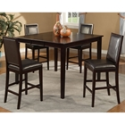 Jackson 5-Piece Extension Pub Set with Leatherette Chairs - Dark Cherry