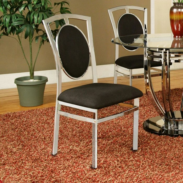 Soho Side Chair with Black Back and Seat (Set of 2)