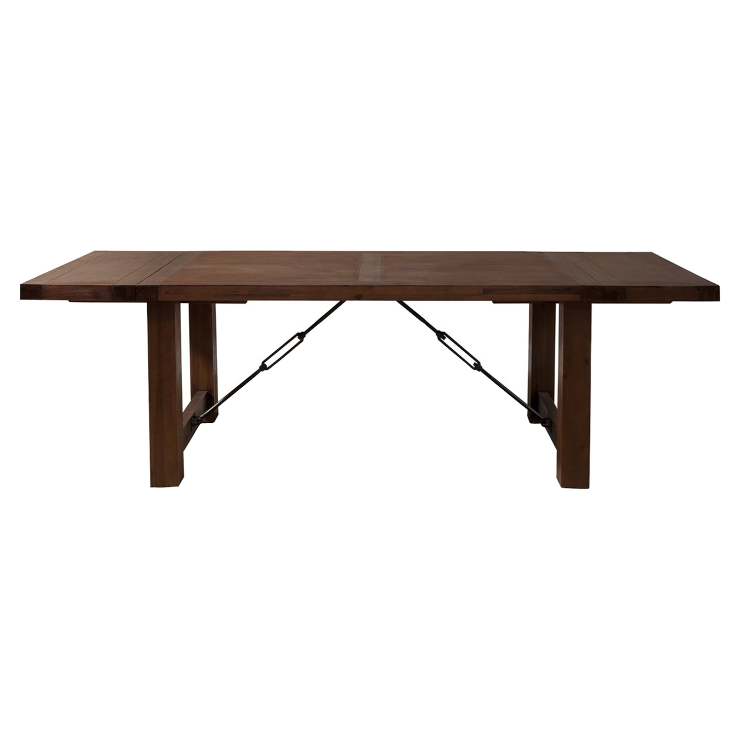 Pierre Dining Table - Antique Cappuccino, Dual Removable Leaves