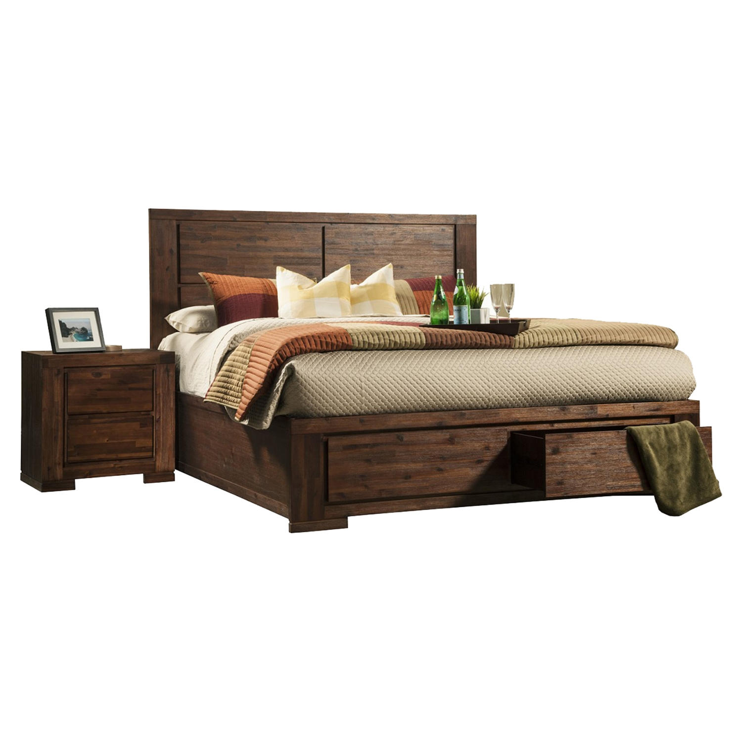 Pierre Bedroom Set - Antique Cappuccino
