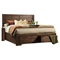 Pierre Storage Panel Bed - Antique Cappuccino - ALP-8104-BED