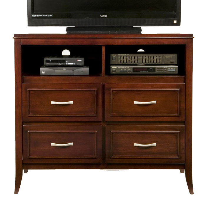 Atherton Media Stand in Merlot Finish