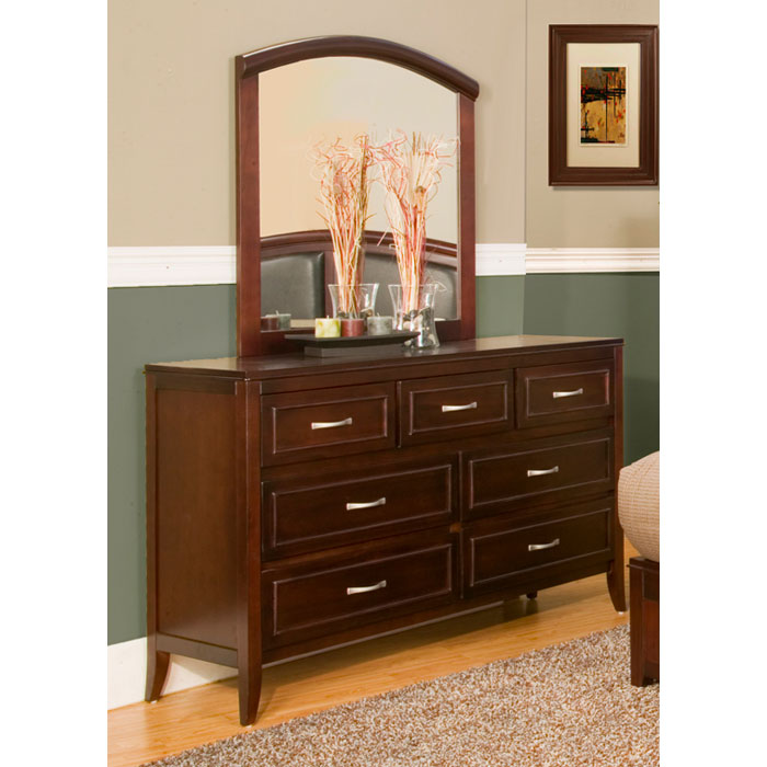 Atherton Mirror in Merlot Finish - ALP-818-06