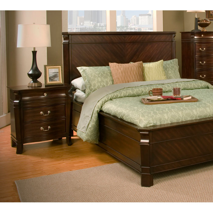 Windsor Nightstand in Dark Cherry - ALP-9000-2
