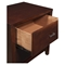 Carrington 2-Drawer Nightstand - Merlot - ALP-CA-02