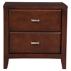 Carrington 2-Drawer Nightstand - Merlot
