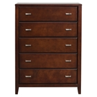 Carrington 5-Drawer Chest - Merlot