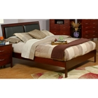 Newport California King Platform Bed - Medium Cherry