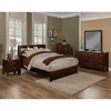 Solana Bedroom Set - Bookcase Headboard, Cappuccino