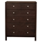Solana 6 Drawers Chest - Cappuccino - ALP-NSK-05