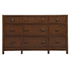 Loft 9 Drawers Dresser - Dark Walnut
