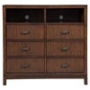 Loft 6 Drawers Media Chest - Dark Walnut