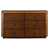 Jimbaran Bay 6 Drawers Dresser - Tobacco