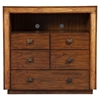 Jimbaran Bay 5 Drawers TV Media Chest - Tobacco