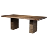 Napa Dining Table - Wine Bottle Storage, Salvaged Brown
