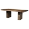 Napa Dining Table - Wine Bottle Storage, Salvaged Brown - ALP-ORI-813-01