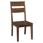 Napa Wooden Side Chair - Salvaged Brown