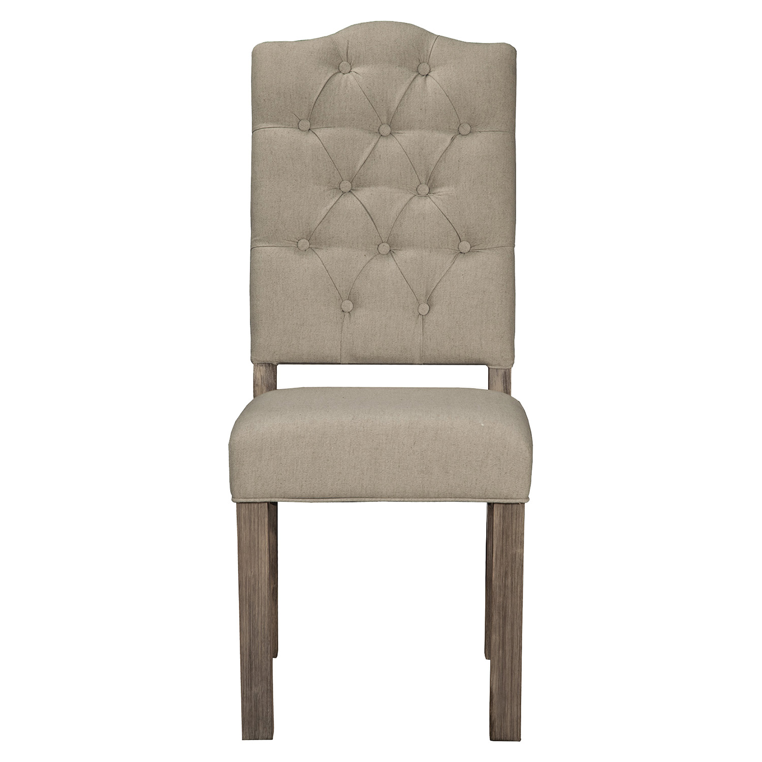 Fiji Tufted Upholstered Side Chair - Weathered Gray